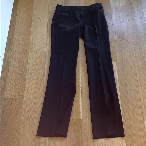 Theory Pants - Theory mid waist straight leg black pants